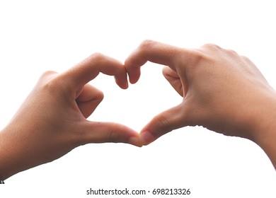 Handmade heart-shaped woman