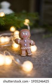 handmade human-shaped gingerbread. handmade gingerbread