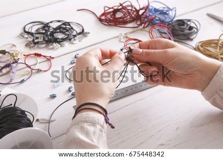 Handmade Jewelry Making Female Hobby Woman Stock Photo Edit Now