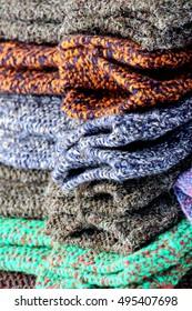 handmade knitted wool socks for sale
