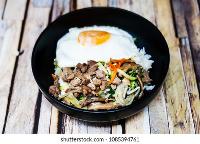 Handmade Korean bibimbap ready to eat