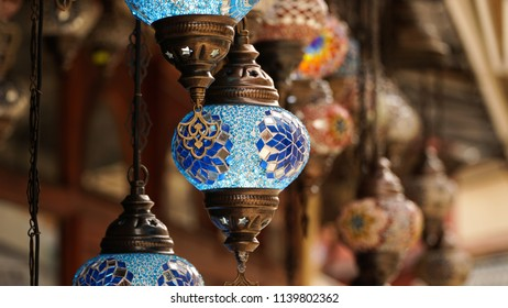 Handmade lamps on a Bazaar in Mostar, Bosnia and Herzegovina.