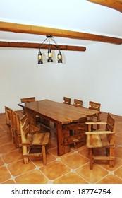 Handmade large kitchen table