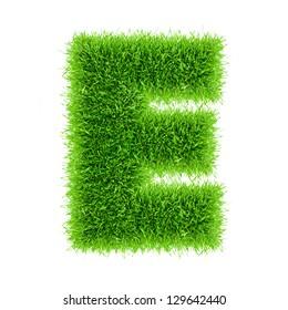Handmade letter of grass alphabet.