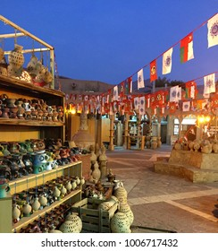 Hand-made Omani pottery at Nizwa Souk, Oman