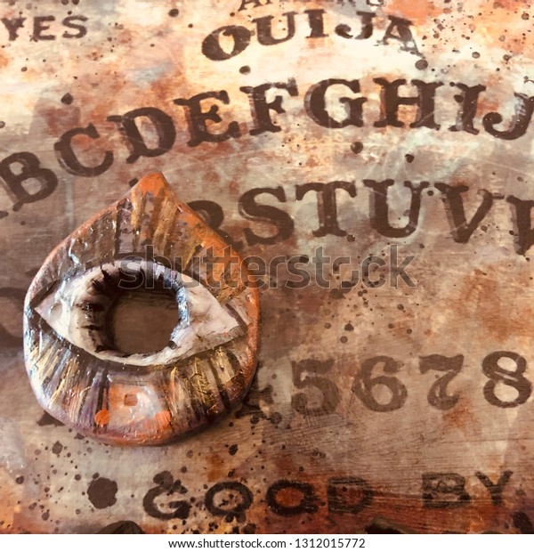 Handmade Ouija Board Planchette Stock Photo (Edit Now) 1312015772