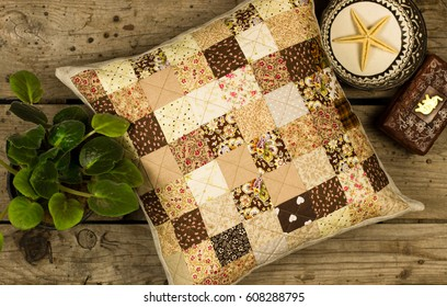 handmade pillow patchwork