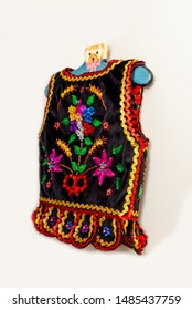 Handmade Polish traditional costume (Stroj Krakowski) in the making. - Shutterstock ID 1485437759
