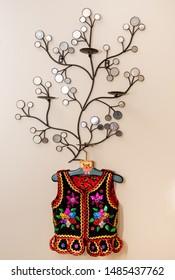 Handmade Polish traditional costume (Stroj Krakowski) in the making. - Shutterstock ID 1485437762