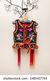 Handmade Polish traditional costume (Stroj Krakowski) in the making. - Shutterstock ID 1485437765