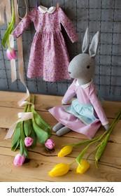 handmade rabit doll/rag doll bunny/easter bunny doll