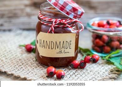 handmade rose hip jam