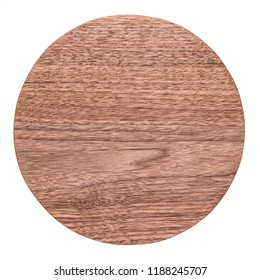 Handmade round black walnut tray, walnut texture, round small chopping board