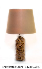 A handmade small table lamp with lampshade