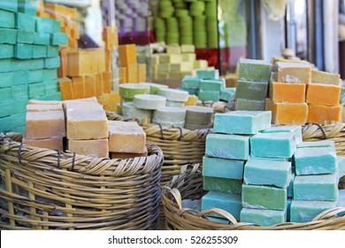 Handmade soap on the market in the south of Turkey (Midyat, Mardin)