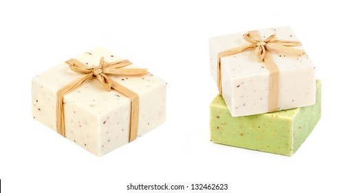 Handmade Soap on a white background