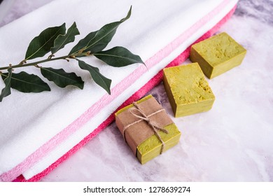 Handmade soaps, natural hand made daphne soaps, soap bars.