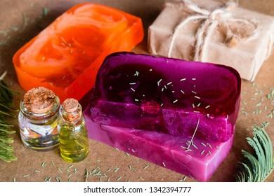 handmade spa natural soap closeup