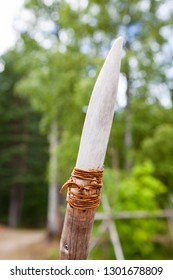 Handmade stone age spear for hunting