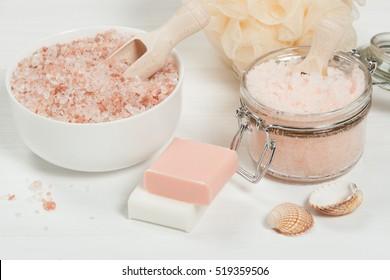 Handmade Sugar Peach Scrub With Argan Oil. Himalayan Salt. Toiletries, Spa Set