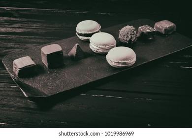 Handmade sweets. Chocolate candies