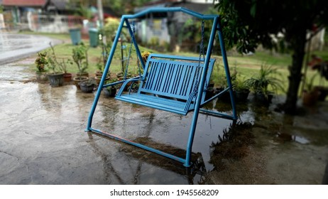 Handmade swing by Mr. Jasni from Chini, Pahang. Durable and long lasting. - Shutterstock ID 1945568209