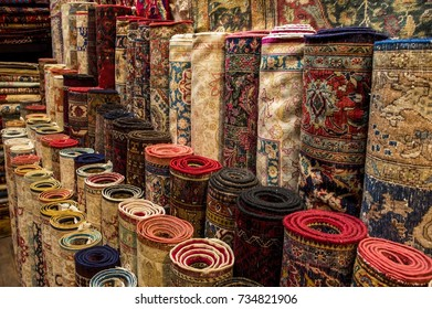Handmade Turkish carpets in a carpet store in Grand Bazaar, Istanbul, Turkey