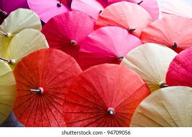handmade umbrella in thailand