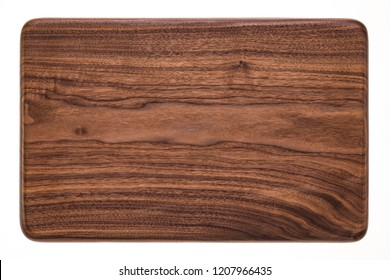 Handmade walnut rectangular mahogany chopping board, walnut texture background