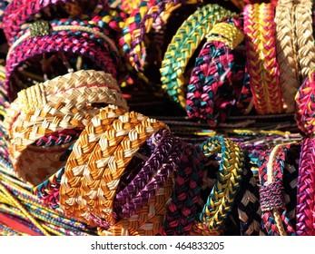 Handmade weave bracelet.