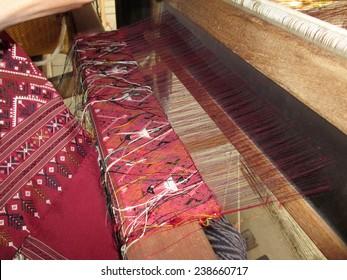 Handmade weaving thread