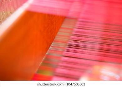 Handmade weaving woven cloth abstract texture background as art design