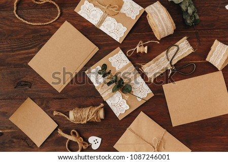 Handmade Wedding Invitation Card Diy Concept Stock Photo Edit Now