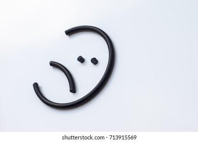 Handmade wire emojis