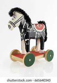 Handmade wooden toy from Croatia - Little Donkey, traditional souvenir, Zagreb, 2017