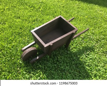 Handmade wooden wheel barrow