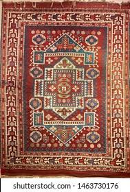 Handmade wool carpet old floor