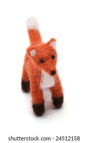 handmade wool fox gift idea