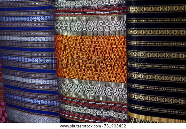 Handmade woven fabrics in, Nan, Thailand