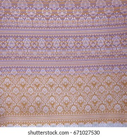 Handmade woven fabrics in thailand