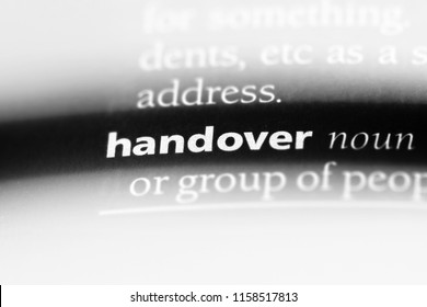 handover word in a dictionary. handover concept.