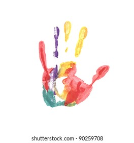 Handprint colored inks