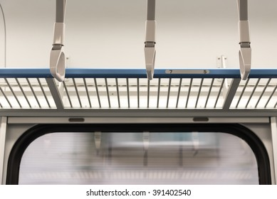 Handrails on the train