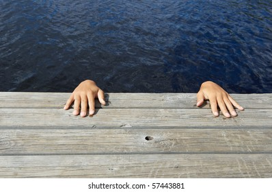 hands above the surface