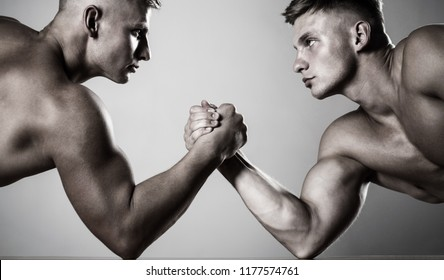 Muscular Hand Vs Strong Hand Competition Stock Photo (Edit Now ...