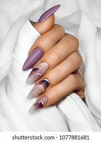 Hands with beautiful fingernails. Professional manicure.