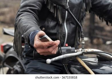 Hands. biker