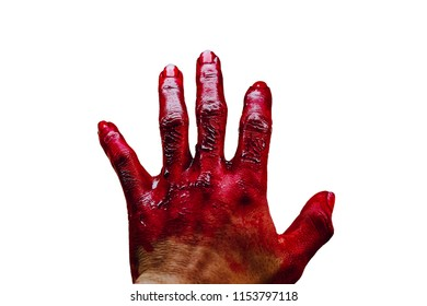 Hands with blood After negligence, thus causing accidents. And maybe death on Halloween.