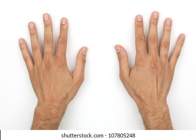 Hands of a caucasian male