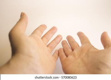 Hands of caucasian woman selfmassage
